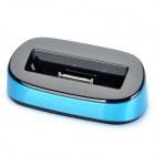 USB Charging Docking Station w/ USB Charging / Data Cable for iPhone 4s - Blue