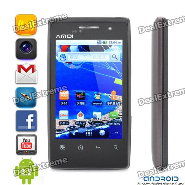 "Amoi N79 Smartphone Android 2.2 WCDMA w/3.5"" Capacitiva, Wi-Fi e GPS - Brown (2GB TF)"