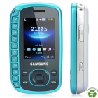 "Refurbished Samsung B3310 QWERTY GSM Phone w/2.0"" LCD Screen, Triple Band, JAVA and FM - Blue"