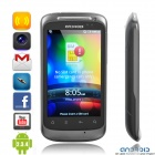 """G12A Android 2.3 WCDMA TV Smartphone w/3.5"""" Capacitive, Dual SIM, Wi-Fi and GPS - Black"""