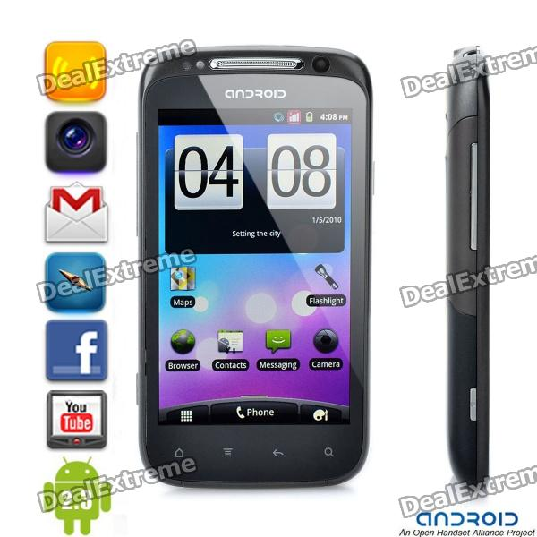 "A710 Android 2.3 WCDMA TV Smartphone w/ 4.1"" Capacitive, Dual SIM, Wi-Fi and GPS - Black"