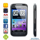 """A710 Android 2.3 WCDMA TV Smartphone w/ 4.1"""" Capacitive, Dual SIM, Wi-Fi and GPS - Black"""