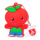 Cute Cartoon Tomato Doll USB Flash Drive - Red + Green (4GB)
