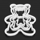 Cute Cartoon Bear Style Biscuit Cookie Cutter Mold Set - White (4 Piece Pack)