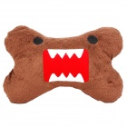 Cute Domo Style Vehicle Car Seat Head Neck Rest Cushion Pillow - Coffee + Red + White