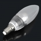 E14 3W 280 ~ 300LM 3500K Warm White Light 3-LED vela lâmpada (85-256V)