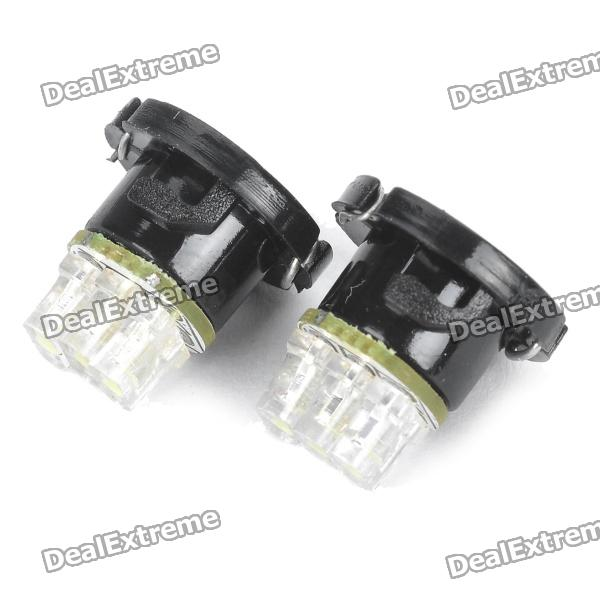 0.15W 3-LED Car White Light Bulb Instrumento (par)