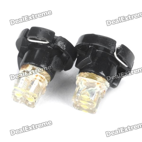 T4.2 0.1W 2-LED Car White Light Bulb Instrumento (par)