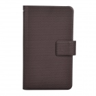 Protective Dot Pattern PU Leather Case Pouch for Samsung Galaxy Note i9220 / GT-N7000 - Brown