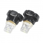 T3 0.05W 1-LED Car Instrument White Light Bulb (Pair)