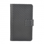 Protective Woven Pattern PU Leather Case Pouch for Samsung Galaxy Note i9220 / GT-N7000 - Black