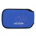 Protective Soft Carrying Pouch for PS VITA - Deep Blue + Black