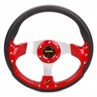 MOMO PU Sport Steering Wheel - Red + Black + Silver