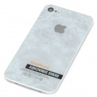 Replacement Flower Pattern Battery Back Cover for iPhone 4 - White + Silver