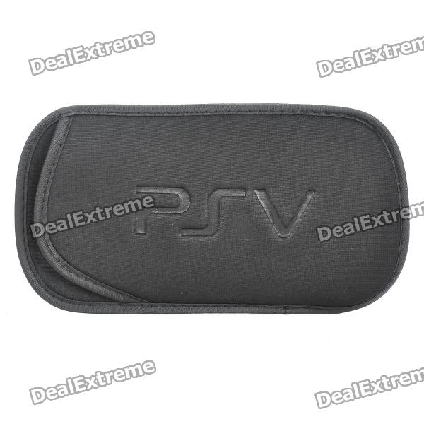 Protective Soft Carrying Pouch with Strap for PS VITA - Black
