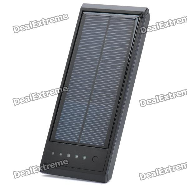 Solar / USB Powered 12000mAh Emergency Battery Pack w/ Adapters for Cell Phone / Laptop + More