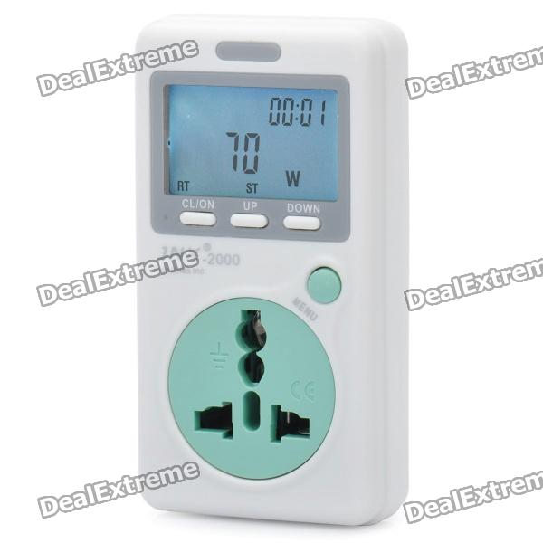 Power Consumption Meter : Quot lcd power energy consumption monitor meter white