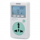 "1.9"" LCD Power Energy Consumption Monitor Meter - White (UK Plug / AC 80~280V)"