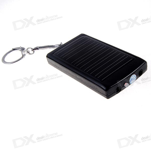 1350mAh Solar + AC Powered Emergency USB Charger Keychain (with Cell Phone Adapters)