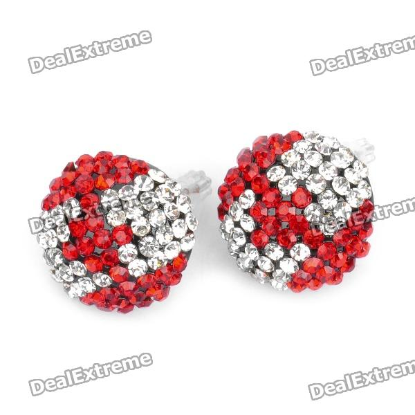 Cool Canada National Flag Style Rhinestone Earrings (Pair) парка canada goose 3811l 49