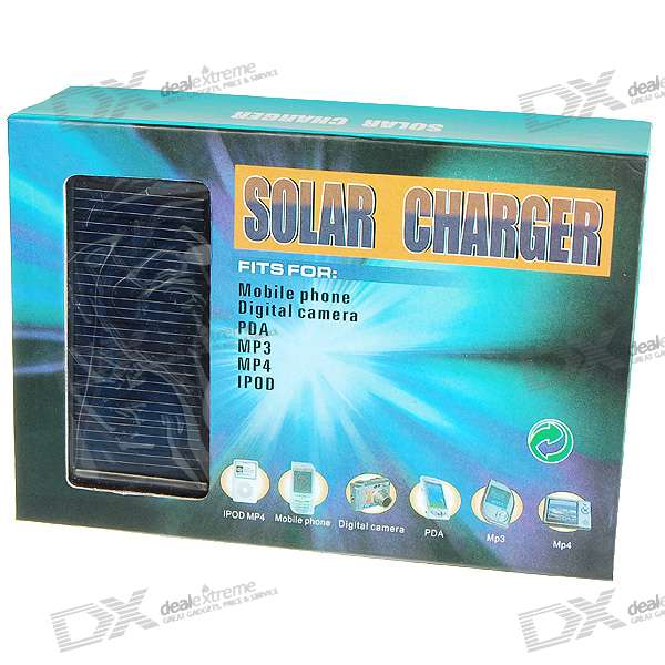 1800mAh Solar + AC Powered Emergency USB Charger (with Cell Phone Adapters)