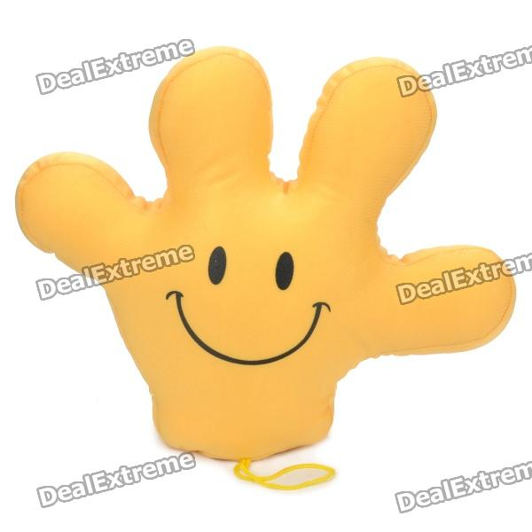 Cute Smile Expression Mickey Glove Hand Doll Toy - Yellow