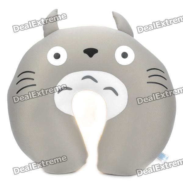 Cute Totoro Style Neck Pillow - Grey + Yellow neck support nap pillow