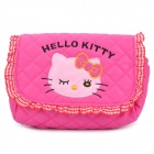 Nettes Hallo Kitty Pattern PU-Leder One-Shoulder-Bag für Kids - Deep Pink