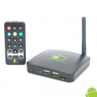 001-1080P TV Android 2.3 Google TV Player w / WiFi / TF / USB / HDMI / RJ45 - Schwarz