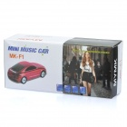 Car Style MP3 Music Speaker w/ FM / TF / 3.5mm AUX - White
