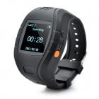 1.5&quot; LCD GSM / GPS Personal Position Tracker Wrist Watch - Black