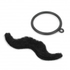Cool Monocle On Cord w/ Moustache Cosplay Set - Black