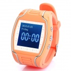"1.5"" USB Rechargeable GPS Tracking Sports Watch - Orange + White"