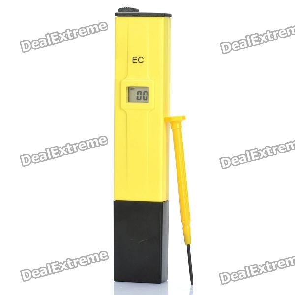 "Professional 0.6"" LCD Pen-type EC Conductivity Meter - Yellow + Black"