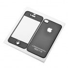 Protective Front & Back Skin Stickers for iPhone 4 - Black