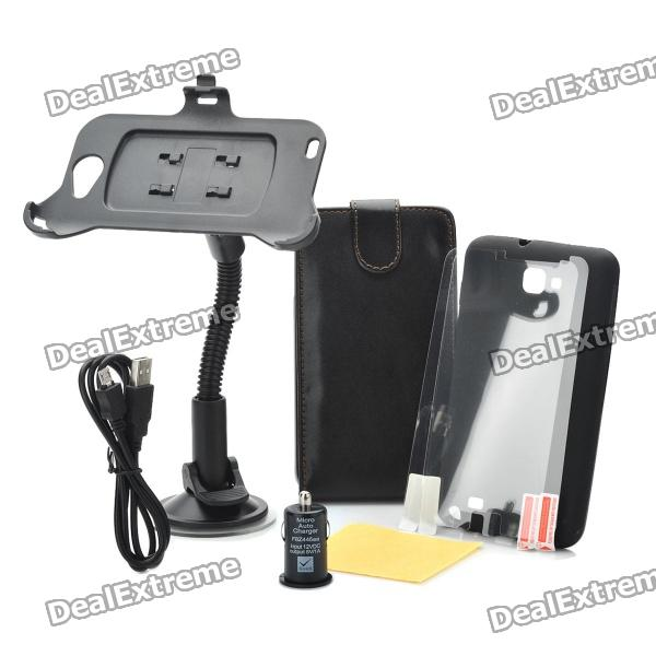 Mobile Phone Accessories Kit for Samsung Galaxy Note i9220 / GT-N7000 - Black планшет samsung galaxy note 10 1 16gb gt n8000 black
