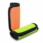 Multi-Functional Neoprene Grips / Handle Covers - Orange + Green + Black (Pair)