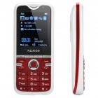 "E100 GSM TV Cell Phone w/ 2.0"" TFT LCD, Quadband, Dual SIM, FM and 3-LED Flashlight - White + Red"