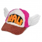 Cute Long Plush Fabric DR.Slump Arale Cosplay Hat for Kids - Coffee + Deep Pink + White