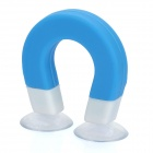 U-Magnet Shaped Suction Cup Stand Support for iPhone 3GS / 4 / 4S / iPod / Various Gadgets - Blue