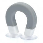 U-Magnet Shaped Suction Cup Stand Support for iPhone 3GS / 4 / 4S / iPod / Various Gadgets - Grey