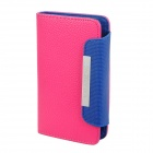 KALAIDENG Protective PU Leather Flip-Open Case for Samsung i9100 - Deep Pink
