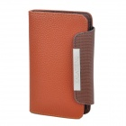 KALAIDENG Protective PU Leather Flip-Open Case for Samsung i9100 - Brown
