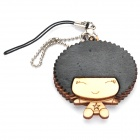 Cute Wooden Girl Doll Cell Phone Strap (Random Style)