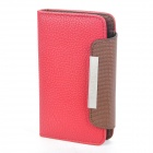 KALAIDENG Protective PU Leather Flip-Open Case for Samsung i9100 - Deep Red
