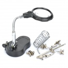 Helping Hand Soldering Stand w/ 2-LED White Light & Magnifier (3 x AAA)