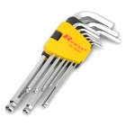 Rewin Ball Head Hex Wrench - L Size (9-Piece Set)