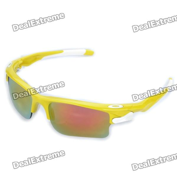 Designer's Outdoor Sports Cycling UV400 Protection Goggles (Yellow Frame)