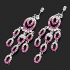 Stylish Shining 0 Shaped Pendants Earrings (Pair)