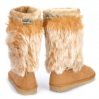 Women's Warm Snow Boots Shoes - Light Brown (EUR Size-36)